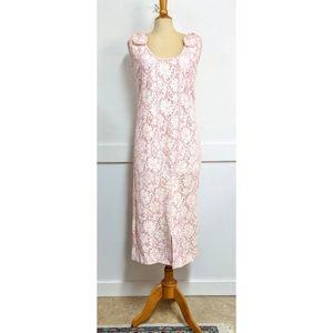 Vintage 1960 Samuel Grossman Pink Lace dress Med